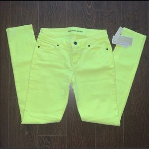 Michael Kors neon yellow jeans